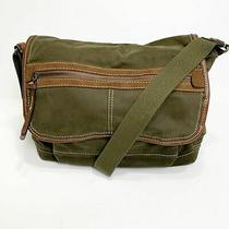 Fossil 1954 Crossbody Messenger Bag Brushed Cotton Fabric Book Bag Vintage Style Photo