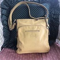 Fossil 1954 Long Live Vintage Yellow Leather Crossbody Shoulder Bag Purse Photo