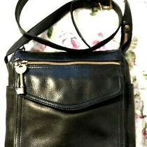 Fossil 1954 Pebbled Black Leather Purse Shoulder / Cross Over - 75082 Photo