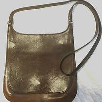 Fossil 1954 Saddlebag Embossed Painted Leather Crossbody Strap Magnet Closure Photo