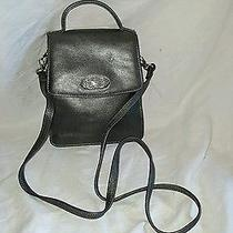 Fossil 1954 Small Pewter Color Leather Tote Handbag Cross Body Purse Nice Photo