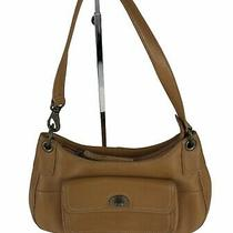 Fossil 1954 Tan Leather W/ Front Pocket Shoulder Bag Purse Photo