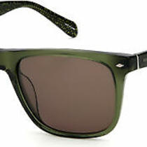 Fossil 2062/s Sunglasses Crystal Green Rust Rectangular 54mm New & Authentic Photo