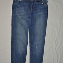 Fossil 25 Womens Jr Straight Cuffed Leg Vintage Indigo Distressed Nwt Cute Jeans Photo