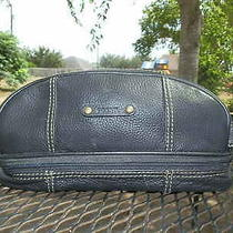 Fossil 54 Black Leather Toiletry Bag Shaving Travel Bag Purse  Photo