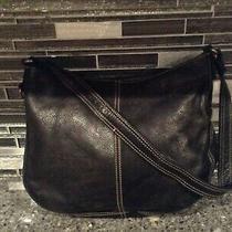 Fossil 75082 Black Leather  Bag Purse  Shoulder Bag  Medium  Photo