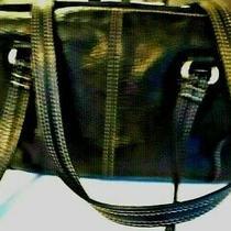 Fossil  75082 Black Pebble Leather Two Handle Shoulder Bag Photo