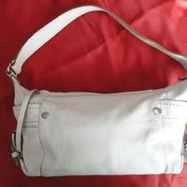 Fossil 75082 Cream Pebbled Soft Leather Hobo Shoulder Bag Photo