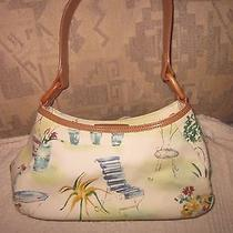 Fossil 75082 Lovely Hand-Painted Fabric/leather Handbag Purse Pocketbook New Photo