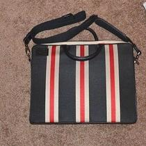 Fossil 75082 Standard Issue Spec 54776 a-54 Striped Laptop Messenger Crossbody  Photo