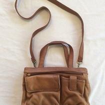 Fossil 75092 Tan Brown Leather Crossbody Shoulder Bag Handbag Purse Photo