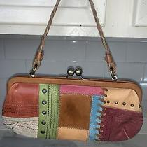 Fossil 90s Multi Color Leather Handbag Sl9656 Photo