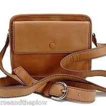 Fossil Abbot Camera Crossbody Camel Brown Leather Handbag New Nwt  Photo