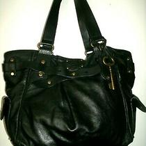 Fossil Adrina Lovely Very Large Spacious Black Glove Leather Shoulder Bag Euc Photo