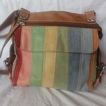 Fossil All Leather Crossbody Purse With Organizer. Photo