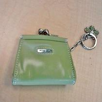 Fossil All Leather Kiss Lock Change Purse Beautiful Green Photo