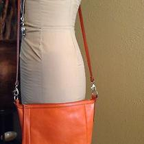 Fossil All Leather Small Crossbody Bag- Monarch Orange  10x9 Photo
