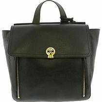 Fossil Amelia Backpack Satchel Shoulder Handbag Black Pebbled Leather Photo