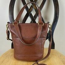 Fossil Amelia Small Bucket Leather Crossbody Bag Brandy Brown Euc Photo