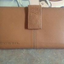 Fossil American Classic 1954 Checkbook Wallet Tan Photo