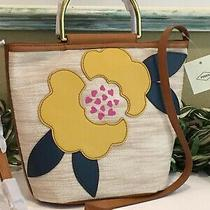 Fossil Amy Small Bucket Bag Satchel Crossbody Shoulder Flower Patch Hobo New Photo