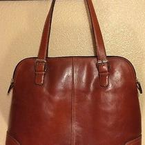 Fossil Auburn Leather Computer Tote  Photo