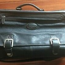 Fossil Authentic Large Black Leather Messenger Bag Photo