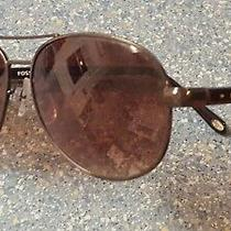 Fossil Aviator Tortoise Brown Gold  Sunglasses Eye Protection Cover Photo