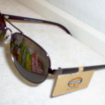 Fossil Aviator Women's Mirrored Green Lens Daniela Sunglasses. Photo