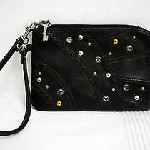 Fossil Bag Clutch Leather Handbag Zip Purse Wallet Black Wristlet X Small  Photo