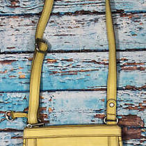 Fossil Bag Crossbody Purse Yellow Leather  Photo