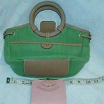Fossil Bag Green Cloth W Leather Wallet Photo