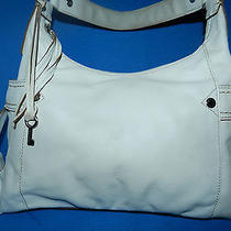 Fossil Bag Hobo Style Casual Design Ivory Leather 1 Strap Photo