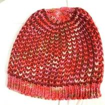 Fossil Beanie Hat Cap Pink Red Womens Photo