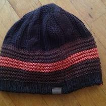 Fossil Beanie Winter Hat Orange/ Brown Size Medium Adult 100% Cotton / Beamwolle Photo