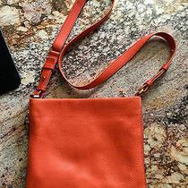 Fossil Beautiful Leather Crossbody Bag/purse Persimmon Orange  Photo