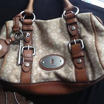Fossil Beige and Tan Purse Photo