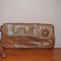 Fossil Beige Leather Wristlet Clutch Wallet Purse  Photo