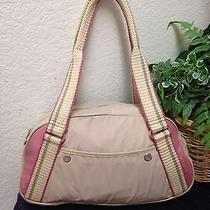 Fossil Beige Nylon Shoulder Bag Handbag Purse Photo