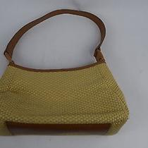 Fossil Beige Straw & Leather Hobo Purse/handbag Photo