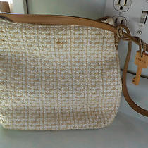 Fossil Beige Woven Purse Photo