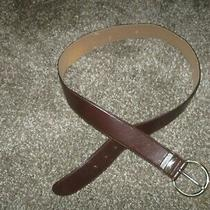 Fossil Belt Leather Brown  Size L  (40 Inches From End to End)    Photo