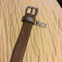 Fossil Belt Mens Size 38-42v Leather Used a Couple Times Brown Photo