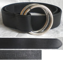 Fossil Belt O Ring Double Black Leather Wide Women's Small S Photo