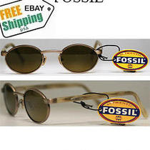 Fossil Bermuda Bronze Metal Frame W/gray Lenses Flex Hinged Sunglasses Under 30 Photo