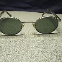 Fossil Bermuda Silver Metal Frame W/green Lenses Flex Hinged Sunglasses Photo