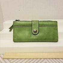 Fossil Bi Fold Soft Green Leather Walletwhat Vintage Are You Photo
