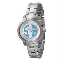Fossil Big Tic Kaleido Ana-Digital Animated Second Silver Stailess Watch Bg2197 Photo