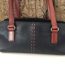 Fossil Black and Brown Leather Handbag Photo