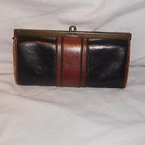 Fossil Black and Brown Leather Wallet Photo